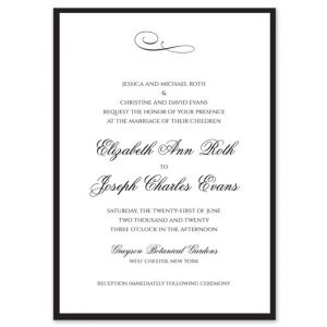 Black Tie Invitation
