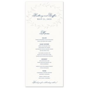Laurel Wreath Menu Card