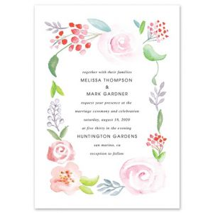Wedded Florals Invitation