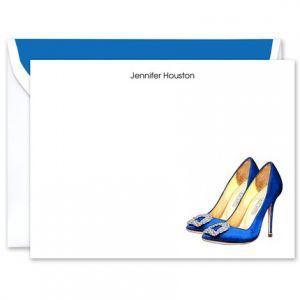 Cobalt Heels Flat Card