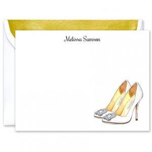 Bridal Heels Flat Card