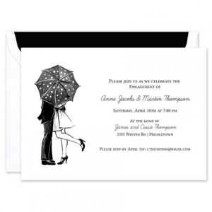 Kiss In The Rain Invitation