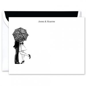 Kiss In The Rain Flat Card