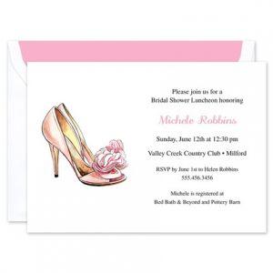 Blush Heels Invitation
