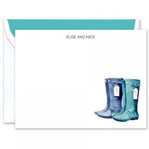 Rain Boots Flat Card