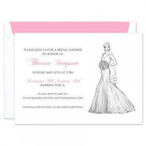 Mermaid Gown Invitation