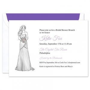 Wrapped Gown Invitation