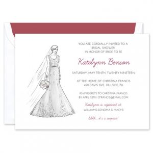 Lace Gown Invitation