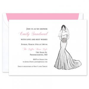 Strapless Gown Invitation
