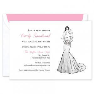 Strapless Gown Invitation