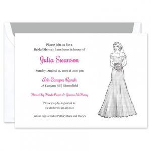 Off Shoulder Gown Invitation