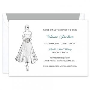 Tea Length Gown Invitation