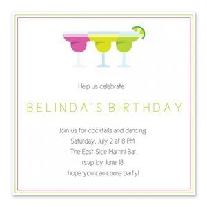 Cool Margarita Invitation