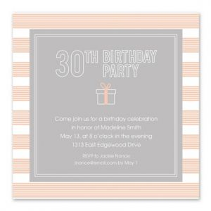 30th Celebration Invitation