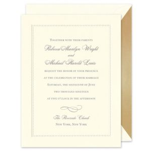 Beaded Border Invitation