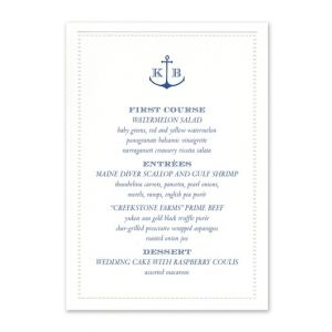 Beaded Border Menu Card