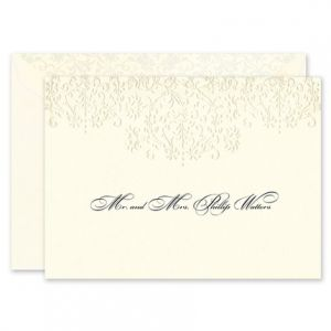 Floral Scroll Note Card