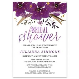 Vibrant Violets Invitation