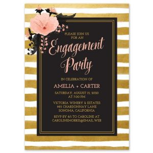 Glam Stripes Invitation