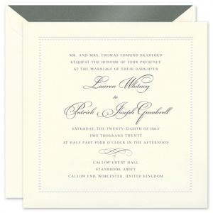 Square Beaded Invitation