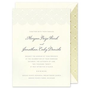 Scalloped Pearls Invitation