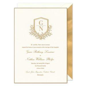 Gold Trim Invitation