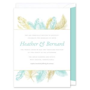 Serenity Feather Invitation