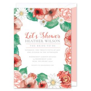 Peach Floral Invitation