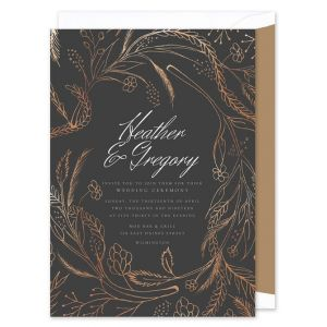 Pewter & Foil Invitation
