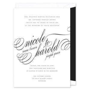 Modern Script Invitation