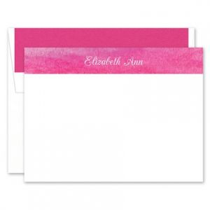 Watercolor Banner Flat Card