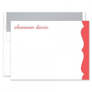 Scalloped Flat Card
