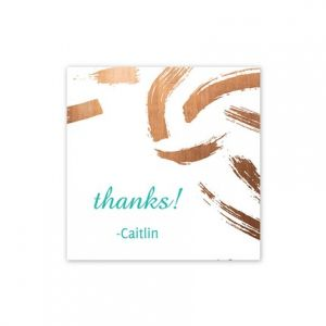 Copper Brush Gift Tag