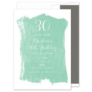 Brushstroke Invitation