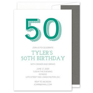 Nifty Fifty Invitation