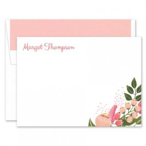 Floral Flat Card
