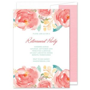 Bright Florals Invitation