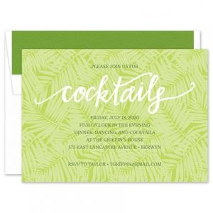 Leaf Cocktails Invitation