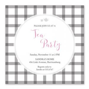 Afternoon Tea Invitation