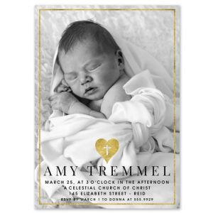 Gilded Photo Invitation