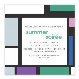 Geometric Soiree Invitation