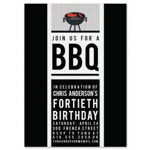 Modern BBQ Invitation