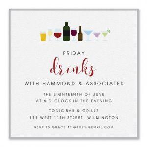 Fancy Drinks Invitation