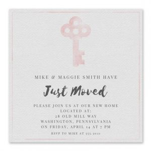 Pink Key Invitation