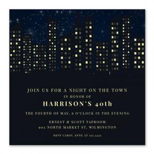 Big City Invitation