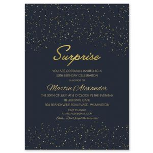 Starry Surprise Invitation