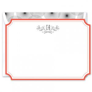 Inverted Border Flat Card