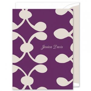 Celine Purple Note Card