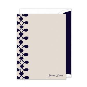 Celine Navy Flat Card