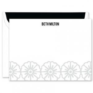 Gray Pinwheel Flat Card